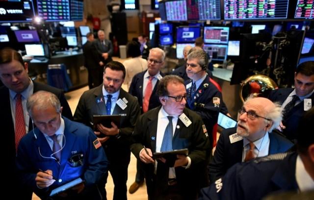 Salle des marchés à la Bourse de New York, le février 2020 (AFP/Archives - Johannes EISELE)