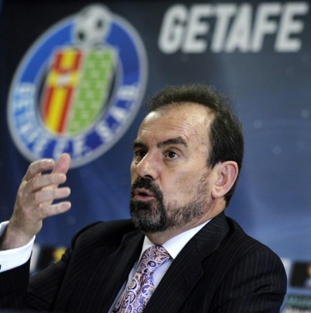 Le président deu club espagnol de Getafe Angel Torres, le 25 avril 2011 à Madrid (AFP/Archives - DOMINIQUE FAGET)