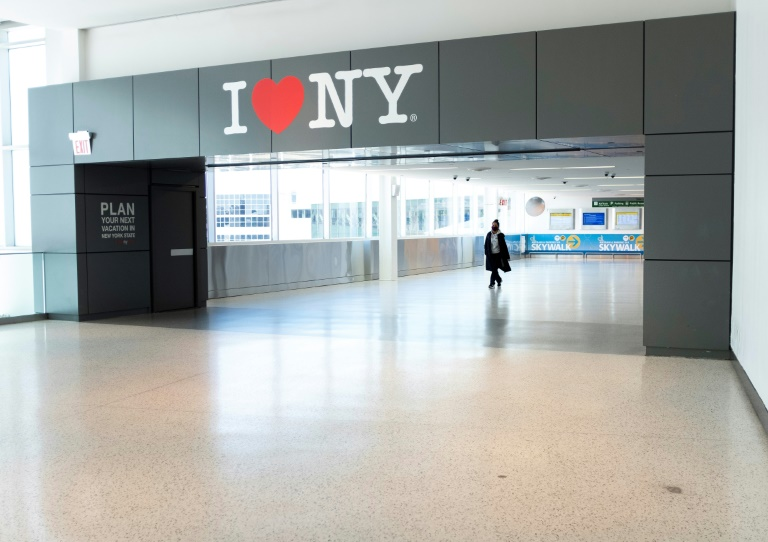 At the John Kennedy Airport of New York, May 13, 2020 (AFP / Archives - Johannes EISELE)