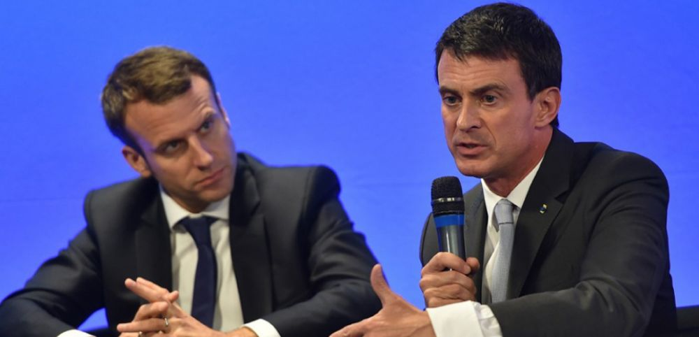 """Résultat de recherche d'images pour """"Manuel Valls : la petite phrase choc qu'il a adressée à Emmanuel Macron"""""""
