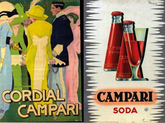Affiches de Marcello Dudovich (1913), Giovanni Mingozzi (1949) et Leonetto Cappiello (1923)