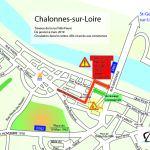 Plan du centre-ville durant les travaux de la rue Félix-Faure