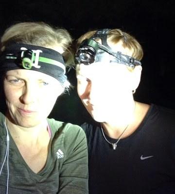 Night trail run mörkt och dant