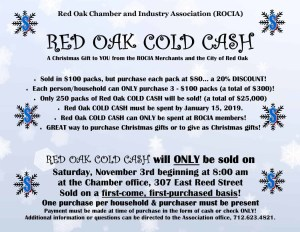 Cold Cash Flyer 2018