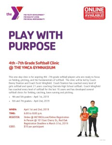 YMCA Softball Clinic 2019
