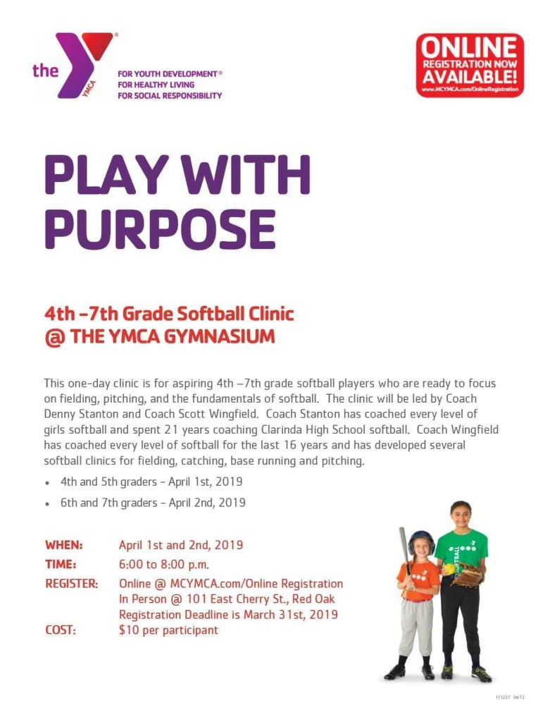 YMCA Softball Clinic 2019