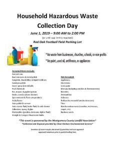 Household Hazardous Waste Collection Day 2019