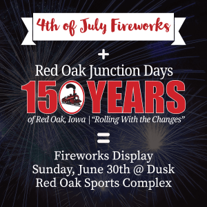 Red Oak Fireworks Display