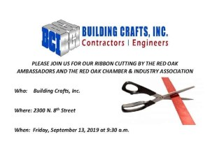 Building Crafts Inc Ribbon Cutting