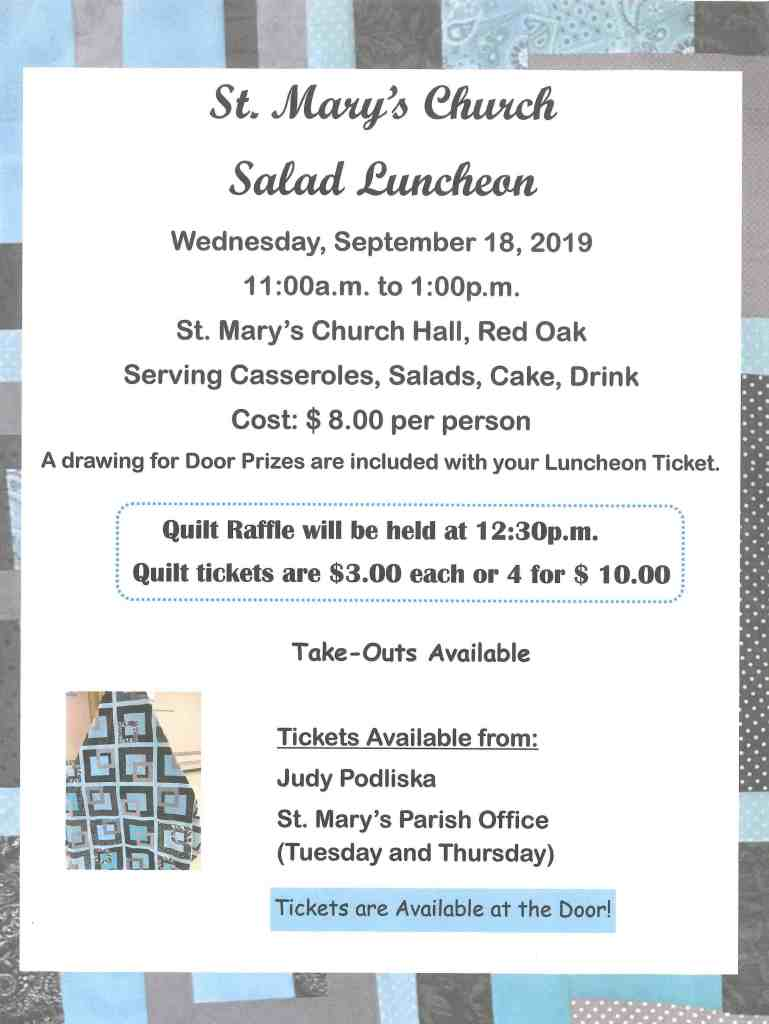 St Mary's Church Salad Luncheon
