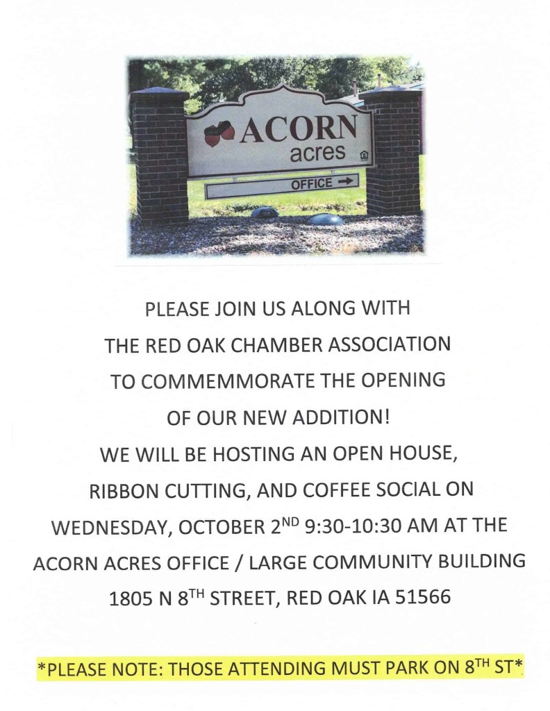 Acorn Acres Ribbon Cutting