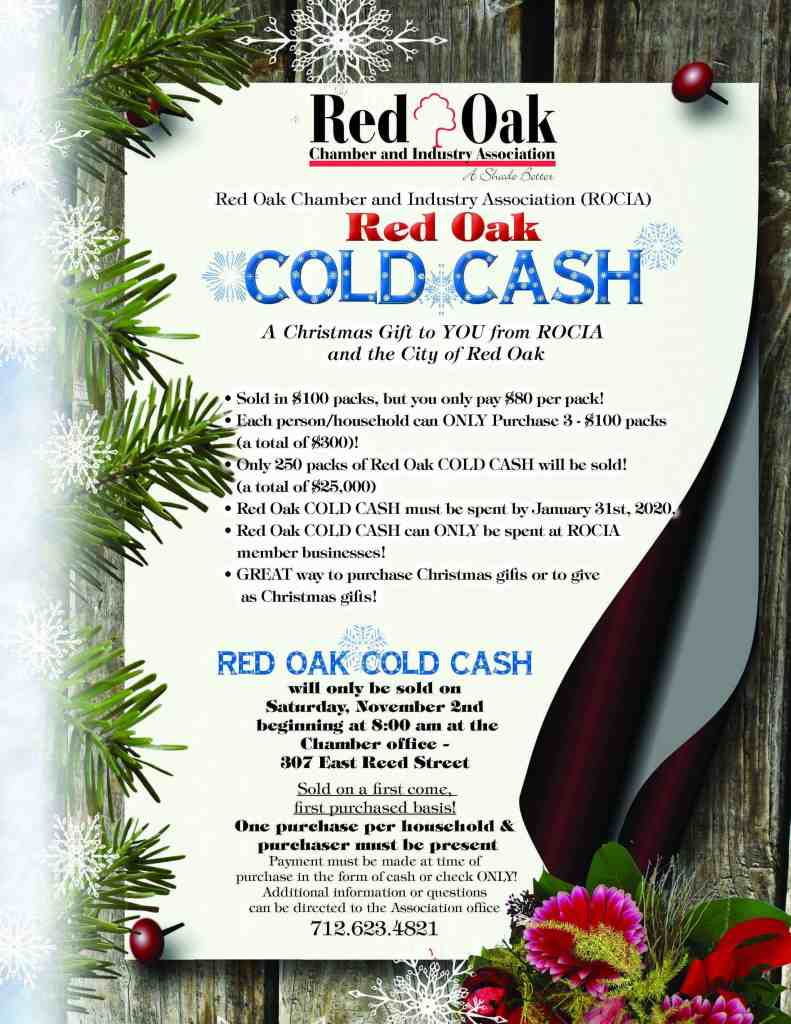 Cold Cash Flyer 2019