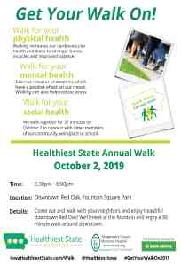 Healthiest State Walk in Downtown Red Oak