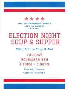 Election night Soup and Supper