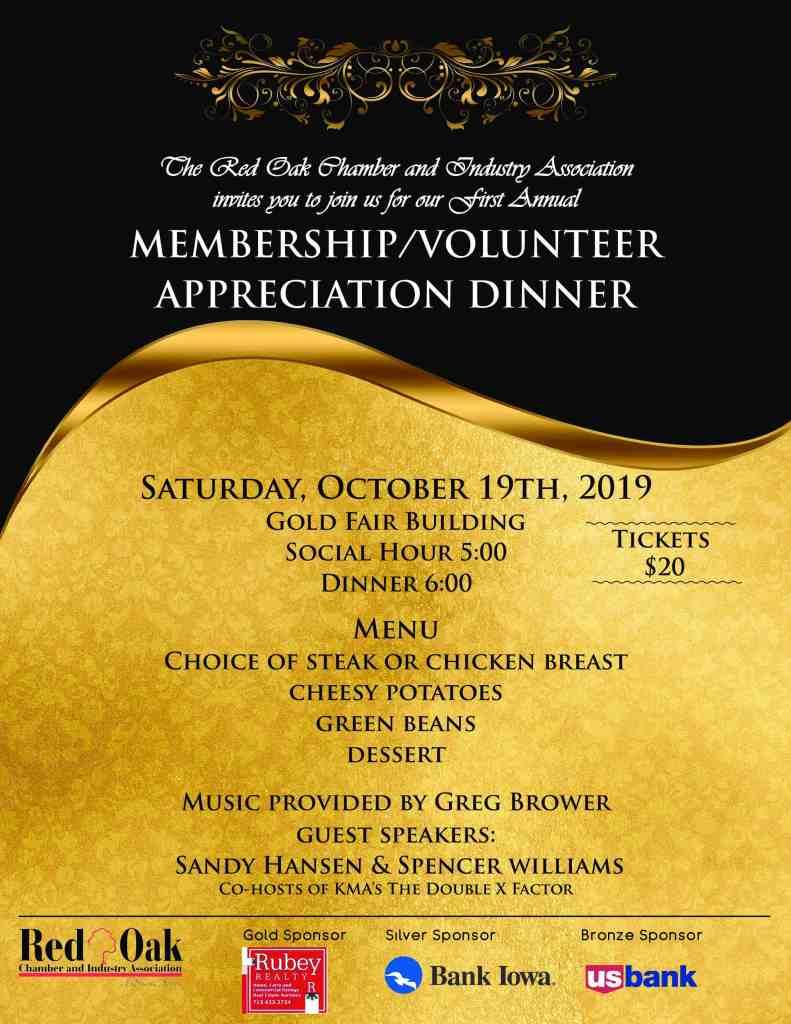 Member Volunteer Apprecation Dinner