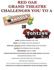 Cornhole/yahtzee Tournament
