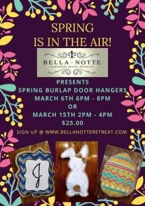 Spring Burlap Door Hangers