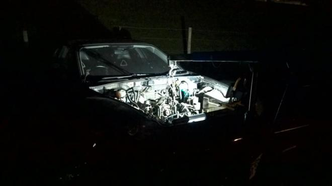RX8 Engine Bay Night
