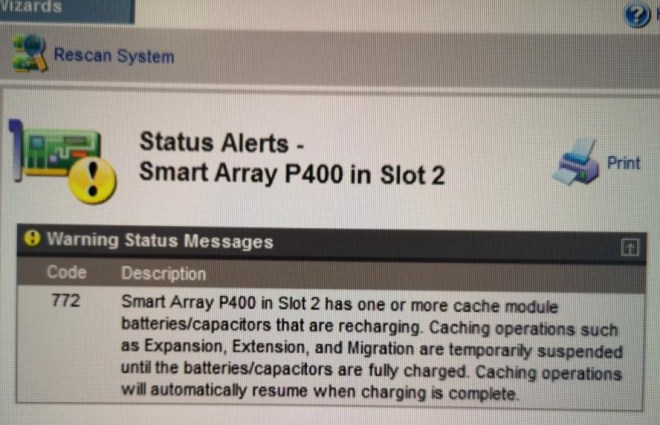 P400 Battery charging warning