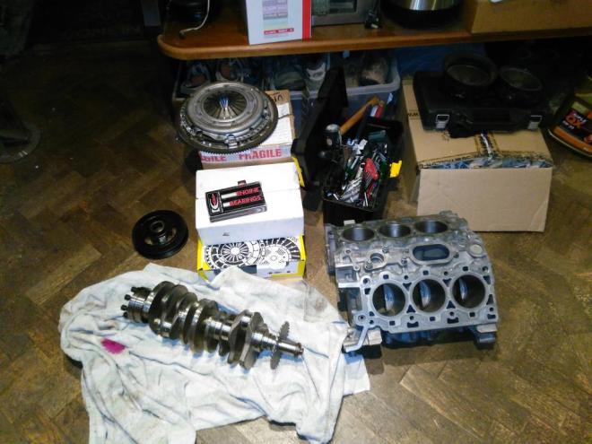 S-type engine parts for rebuild