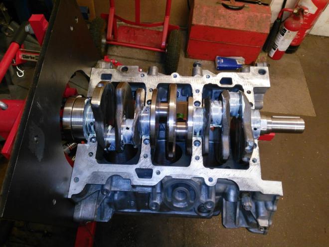 S-type crank installed