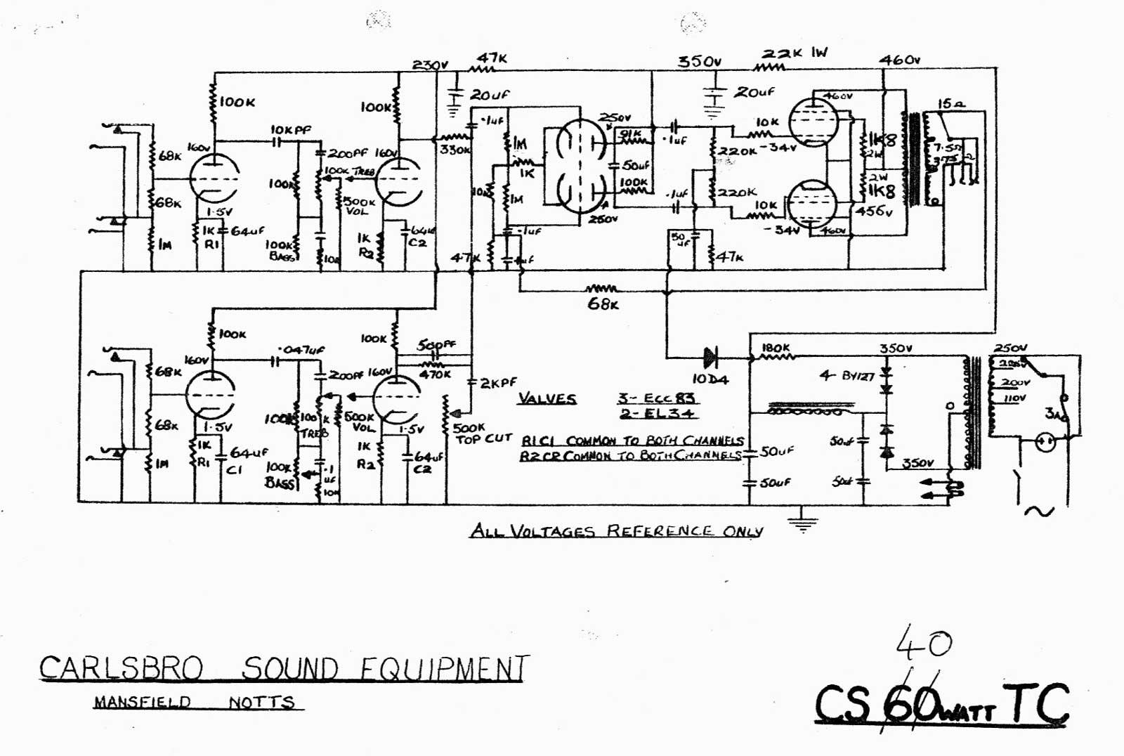 Carlsbro 40tc Amp Schematic