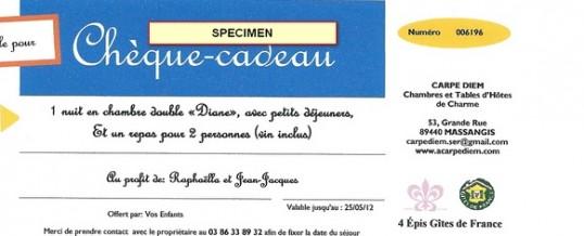 Chque Cadeau Chambres Dhtes En Bourgogne