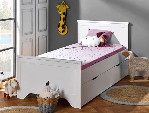 lit gigogne enfant occitane blanc 90x190