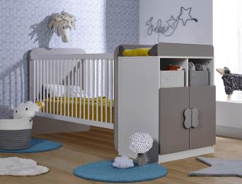 lit bebe combine evolutif madrid blanc lin 70x140