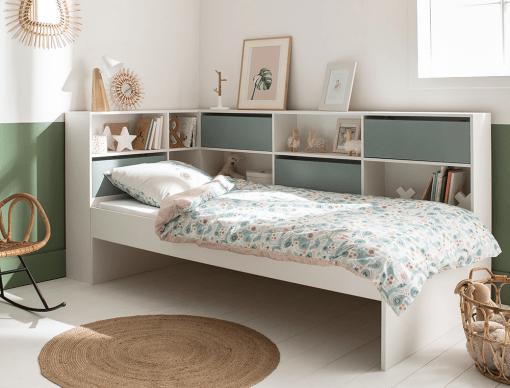 lit enfant avec rangements opus blanc mousse