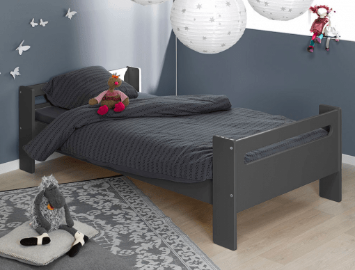 lit enfant bas london anthracite 90x190