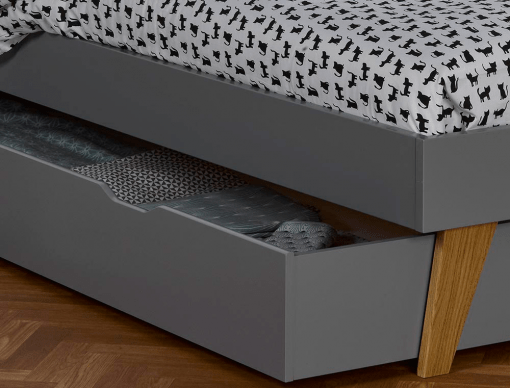 tiroir lit enfant origine gris flanelle 90x200
