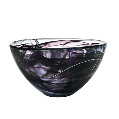 Kosta Boda-Contrast-Medium-Bowl-Black-chameleon-aberdeen