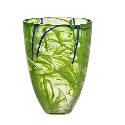 Kosta Boda-Contrast-Vase-Lime-chameleon-aberdeen