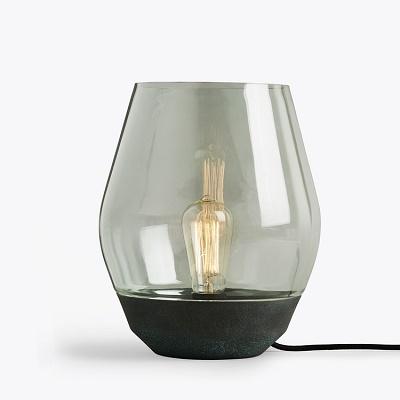 Verdigris Copper & Tinted Glass Table Lamp   Chameleon