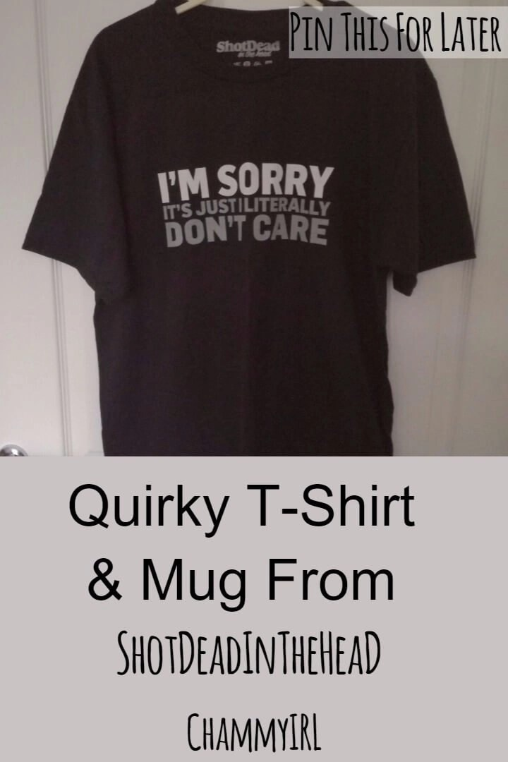 I love quirky mugs and slogan shirts. I got to try these from ShotDeadInTheHead as a gift for Aaron for Father's Day.