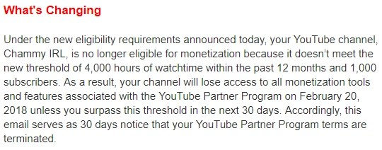 YouTube de-monetise