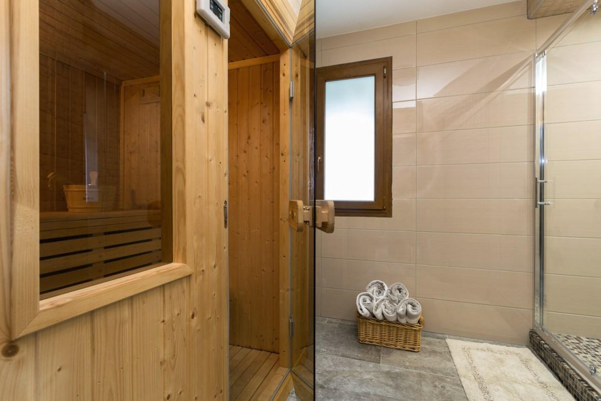 Sauna luxury chalet chamonix exclusive