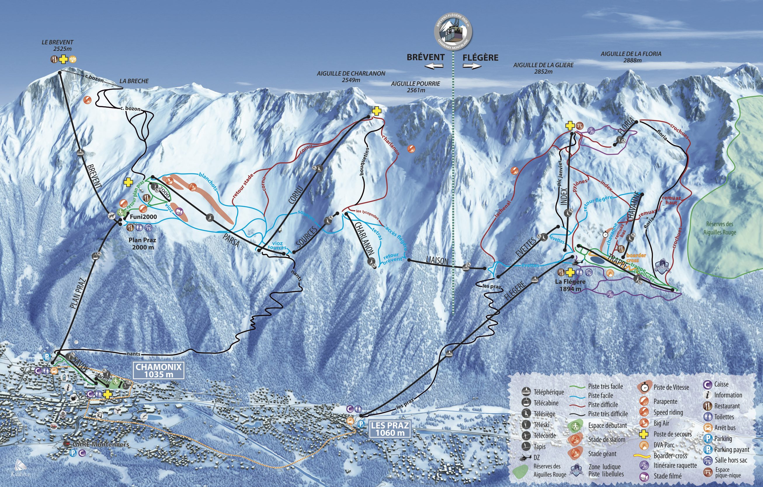 Chamonix Ski Map, luxury chalet chamonix exclusive