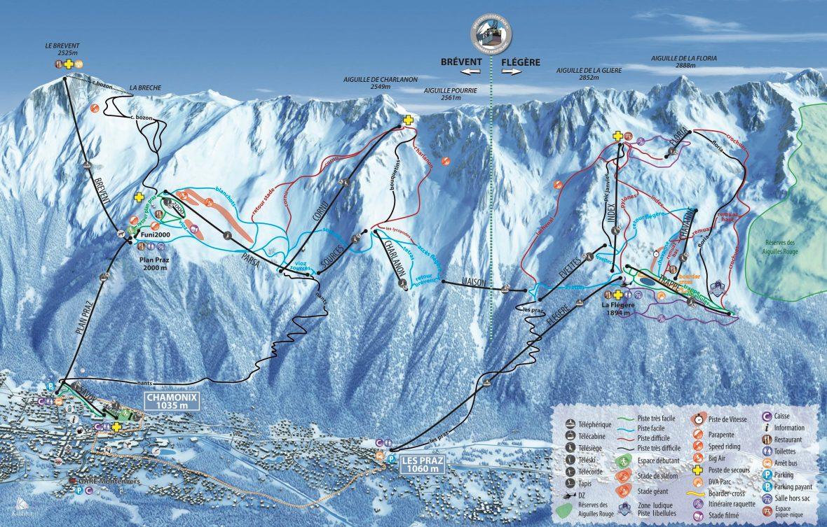 Chamonix Ski Map, luxury chalet chamonix exclusive