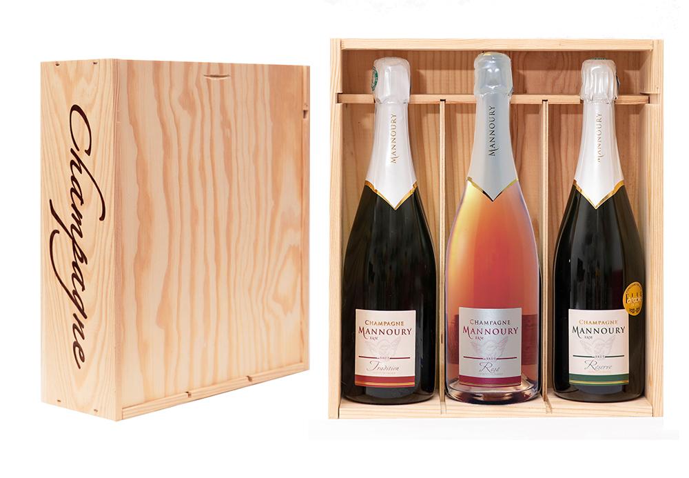 coffret 3 bouteilles tradition réserve rosé