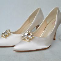 Not just any wedding shoes but Rainbow Club dyeable wedding shoes....