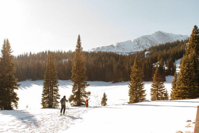 skiing on the a mountain in colorado