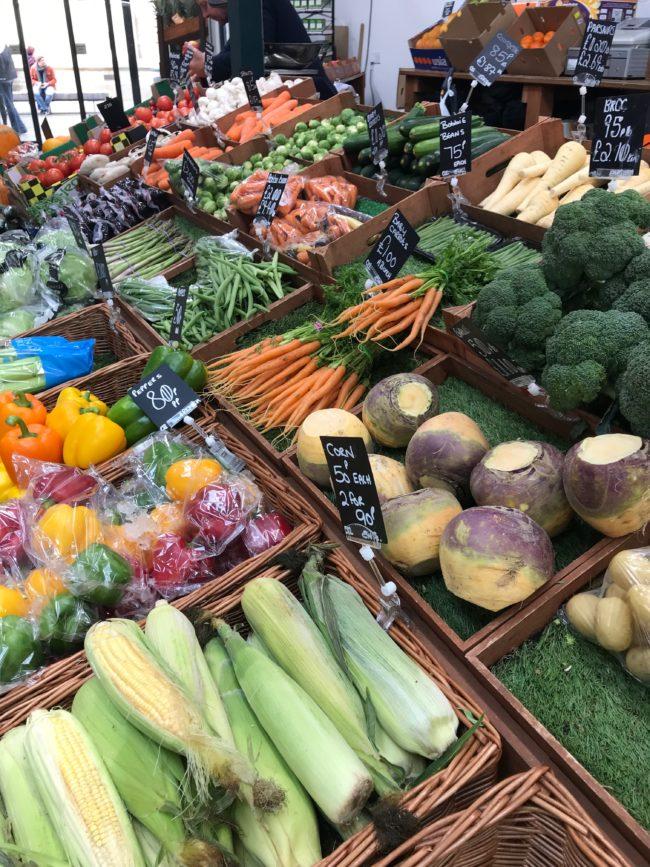 trinity indoor market vegetable stall