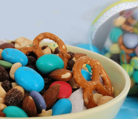 Easter Bunny trail mix Champagne and Sugarplums title