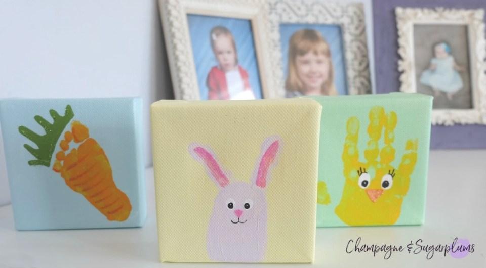 Cute Easter Handprint and Footprint Craft Ideas