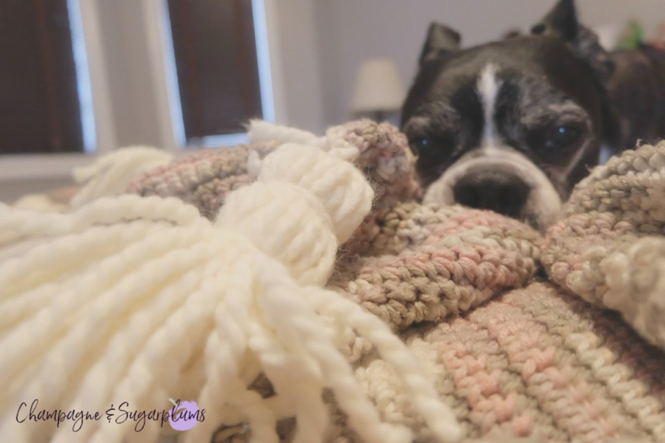 DIY Hygge Inspired Blanket Tassels pet approved