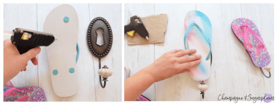 How to make flip flop hangers