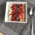 Strawberry Flax Smoothie Bowl by Steph Coogan, the Grateful Grazer