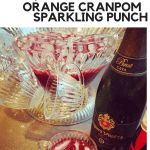 Orange CranPom Sparkling Punch with Thyme